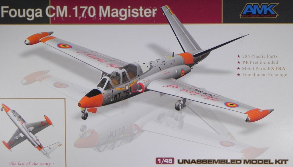 Fouga CM.170 Magister Belgium AMK France 1:48 Neuheit Luftwaffe