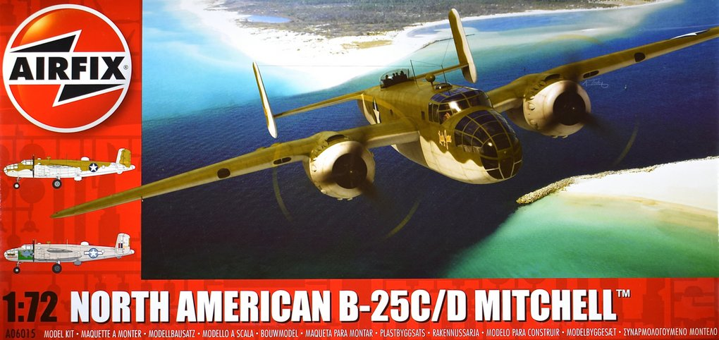 Airfix 172 North American B 25cd Mitchell Model Paint Solutions