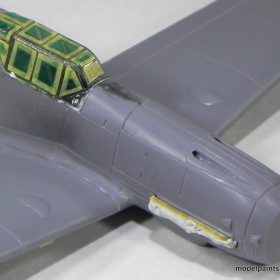Once clean the canopy was glued in place using Gold CA (Bob Smith). The canopy was then masked using thin pieces of Tamiya tape to delineate the periphery ... & Progressive Build: Me-109 V-Tail with New Mission Models RLM ...