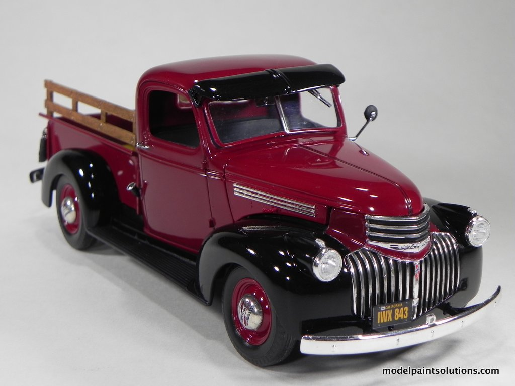 Pickup 41 chevy pickup : Revell 1/25 scale 1941 Chevy Pick Up in Gloss Wine Red   Model ...
